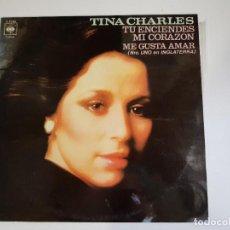 Discos de vinilo: TINA CHARLES - TÚ ENCIENDES MI CORAZÓN (VINILO). Lote 156271350