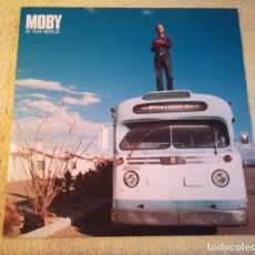 Discos de vinilo: MOBY IN THIS WORLD 2LP PROMO LIMITED EDITION. Lote 156294866