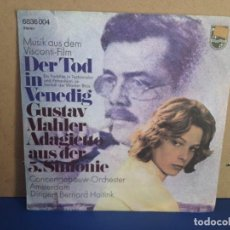 Discos de vinilo: LUCHINO VISCONTI - MUERTE EN VENECIA (DER TOD IN VENEDIG) / ¡¡RARISIMO!! SINGLE VINILO . Lote 156308910