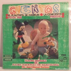 Discos de vinilo: CUENTOS TEATRO INVISIBLE DE RADIO NACIONAL DE BARCELONA-LP 1975. Lote 156312616