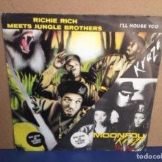 Discos de vinilo: RICHIE RICH MEETS JUNGLE BROTHERS - I'LL HOSE YOU (ZIX RECORDS) / ¡¡RARISIMO!! SINGLE VINILO. Lote 156315690