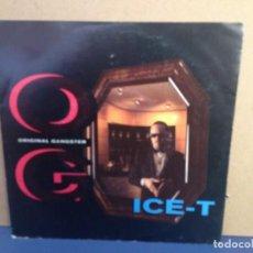 Discos de vinilo: ICE-T - ORIGINAL GANGSTER - BICHES (GANGSTA) / ¡¡RARISIMO!! SINGLE VINILO . Lote 156317862