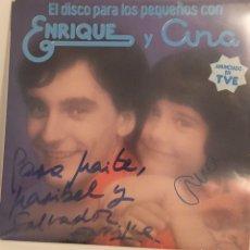 Discos de vinilo: EL DISCO PARA LOS PEQUEÑOS CON ENRIQUE Y ANA-LP 1978. Lote 156323478