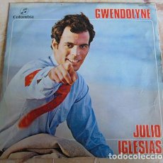 Discos de vinilo: JULIO IGLESIAS - GWENDOLYNE - SINGLE. Lote 156372130