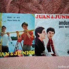 Discos de vinilo: DOS SINGLES DE JUAN & JUNIOR. Lote 156439550