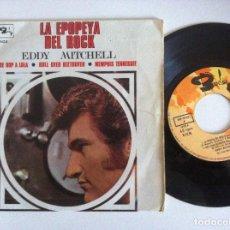Discos de vinilo: EDDY MITCHELL - LA EPOPEYA DEL ROCK - EP 1968 - BARCLAY. Lote 156452518