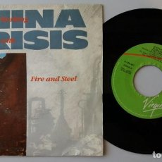 Discos de vinilo: CHINA CRISIS / WORKING WITH FIRE AND STEEL / SINGLE 7 INCH. Lote 156453734