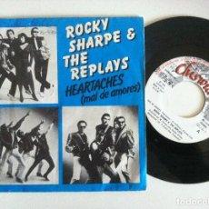 Discos de vinilo: ROCKY SHARPE & THE REPLAIS MAL DE AMORES / CHOO CHOO - SINGLE 1980 - CHISWICK. Lote 156456298