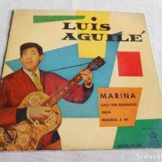 Discos de vinilo: LUIS AGUILÉ, EP, EL MARINA + 3, AÑO 1960. Lote 156468478