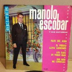Discos de vinilo: MANOLO ESCOBAR Y SUS GUITARRAS / FILOS DEL ALBA / EP-BELTER - 1964 / MBC. ***/***. Lote 156469338