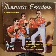 Discos de vinilo: MANOLO ESCOBAR Y SUS GUITARRAS / EL PRIMER BAUTIZO / EP - SAEF-1960 / MBC. ***/***. Lote 156469622