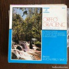 Discos de vinilo: ORFEÓ GRACIENC - LA SANTA ESPINA + 3 - EP COLUMBIA / CAIXA D'ESTALVIS TERRASSA 1975 . Lote 156473614