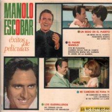 Discos de vinilo: MANOLO ESCOBAR - EXITOS DE PELICULAS - UN BESO EN EL PUERTO ...LP BELTER RF-7458. Lote 156478022