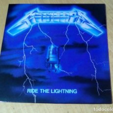 Discos de vinilo: METALLICA - RIDE THE LIGHTNING (LP REEDICIÓN, CON ENCARTE) NUEVO. Lote 224932443