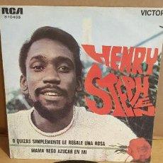 Discos de vinilo: HENRY STEPHEN / O QUIZÁS SIMPLEMENTE LE REGALE UNA ROSA / SG-RCA-VICTOR - 1969 / MBC. ***/***. Lote 156479622