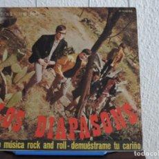 Discos de vinilo: LOS DIAPASONS - HAGO MÚSICA ROCK AND ROLL / DEMUÉSTRAME TU CARIÑO (SINGLE) RCA VICTOR 1967 . Lote 156485466