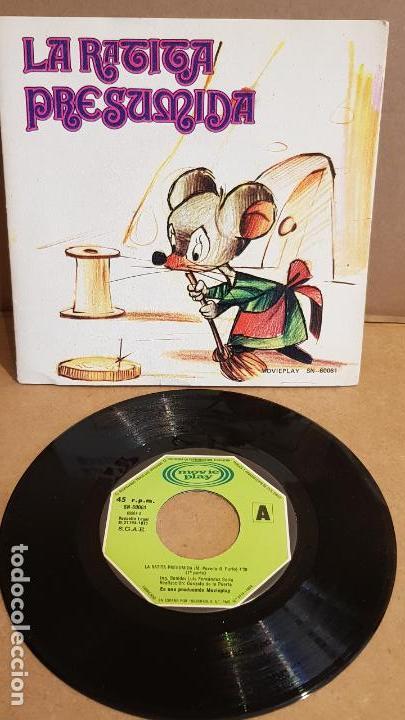 LA RATITA PRESUMIDA / CUENTO-SINGLE / MOVIE PLAY - 1971 / MBC. ***/*** (Música - Discos de Vinilo - Maxi Singles - Música Infantil)