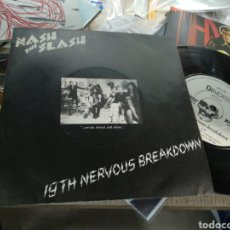 Discos de vinilo: NASH THE SLASH SINGLE 19TH NERVOUS BREAKDOWN 1981. Lote 156489458