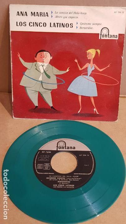 LOS CINCO LATINOS / LA CANCIÓN DEL HULA-HOOP / EP - FONTANA-1959 / MBC. ***/*** (Música - Discos de Vinilo - EPs - Grupos y Solistas de latinoamérica)