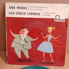 Discos de vinilo: LOS CINCO LATINOS / LA CANCIÓN DEL HULA-HOOP / EP - FONTANA-1959 / MBC. ***/***. Lote 156499550