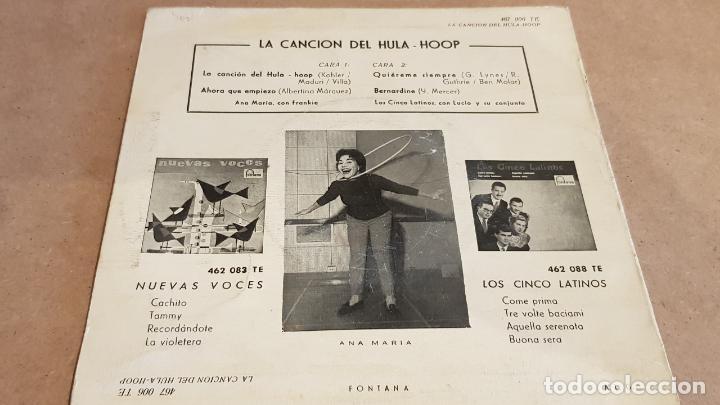 Discos de vinilo: LOS CINCO LATINOS / LA CANCIÓN DEL HULA-HOOP / EP - FONTANA-1959 / MBC. ***/*** - Foto 2 - 156499550