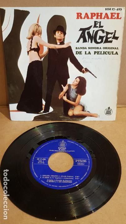 B.S.O !! RAPHAEL / EL ANGEL / EP - HISPAVOX-1969 / MBC. ***/*** (Música - Discos de Vinilo - EPs - Bandas Sonoras y Actores)