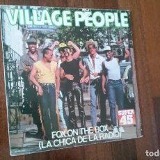 Discos de vinilo: VILLAGE PEOPLE-FOX ON THE BOX.MAXI. Lote 156507690