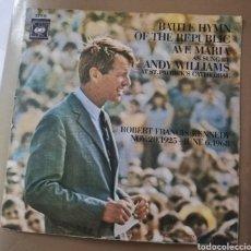 Discos de vinilo: ANDY WILLIAMS - BATTLE HYMN OF THE REPUBLIC. Lote 156511389