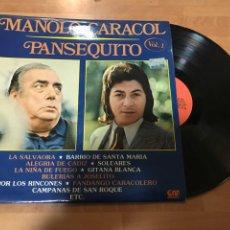 Discos de vinilo: MANOLO CARACOL. PANSEQUITO LP VINILO. Lote 156512941