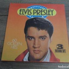 Discos de vinilo: ELVIS PRESLEY - 60 GOLDEN HITS (3LPS). Lote 156516446