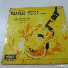 Discos de vinilo: NARCISO YEPES (GUITARRA) - JUEGOS PROHIBIDOS PARTE 1ª Y 2ª - N. Lote 156529990