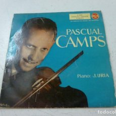Discos de vinilo: PASCUAL CAMPS VIOLIN+J.URIA PIANO CZARDAS/LA DANZA DE LA ALONDRA/SERENATA +1 EP 1960 RCA -N. Lote 156530274