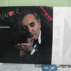 Discos de vinilo: CHARLES AZNAVOUR,SUS CANCIONES EN ESPAÑOL EDICION ESPAÑOLA DEL 90 DOBLE LP. Lote 156534074