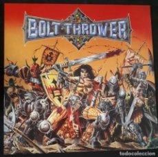 Discos de vinilo: DISCO LP VINILO GATEFOLD BOLT THROWER WAR MASTER PRIMERA EDICION INGLESA 1991 EARACHE DEATH METAL. Lote 156534618