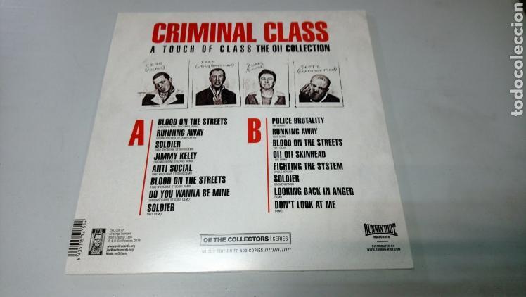Discos de vinilo: Criminal Class - touch of Class The OI! Collection lp vinilo nuevo incluye revista y póster - Foto 2 - 156540718