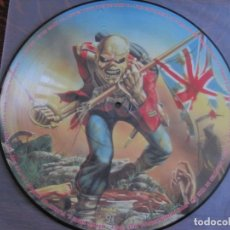Discos de vinilo: IRON MAIDEN `THE TROOPER` PICTURE DISC PROMOTIONAL. Lote 156513638