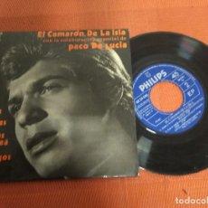 Discos de vinilo: EL CAMARON DE LA ISLA CON PACO DE LUCIA / TANGOS / EP 45 RPM / PHILIPS . Lote 156560054
