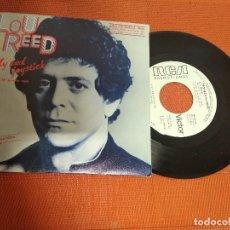 Discos de vinilo: LOU REED / MI APARATO ROJO / SINGLE GIRA ESPAÑOLA 1984 / RCA PROMO 1984 SPAIN . Lote 156561870