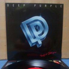 Discos de vinilo: DEEP PURPLE - PERFECT STRANGERS 1984 GER CON ENCARTE. Lote 156564254