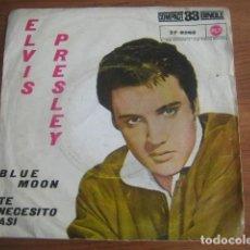 Discos de vinilo: ELVIS PRESLEY - BLUE MOON ***** RARO SINGLE ESPAÑOL 1961 33 RPM PORTADA MÁS RARA!. Lote 156565126