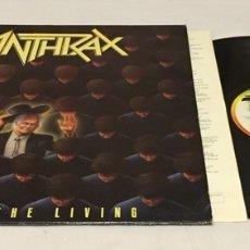 Discos de vinilo: ANTHRAX - AMONG THE LIVING LP, 1987, REINO UNIDO. Lote 156568249