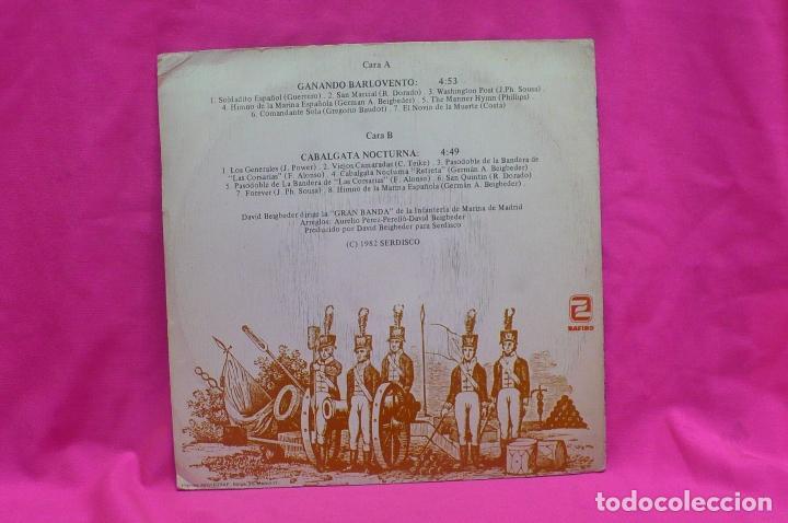 Discos de vinilo: a toda marcha-gran banda de infanteria de marina de madrid, ganando barlovento, cabalgata nocturna. - Foto 2 - 156573186