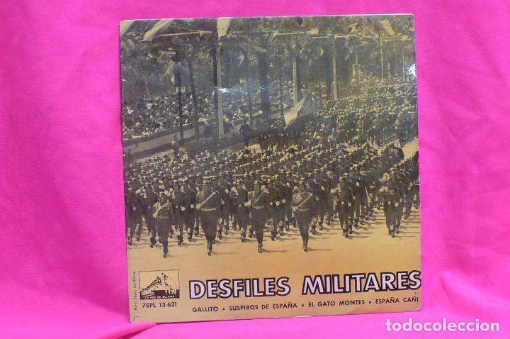 DESFILES MILITARES - BANDA DE LA POLICIA ARMADA Y DE TRAFICO DE BARCELONA, LA VOZ DE SU AMO, 1961. (Música - Discos de Vinilo - EPs - Clásica, Ópera, Zarzuela y Marchas)