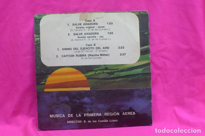 Discos de vinilo: musica de la primera region aerea, salve aviadora /himno del ejercito del aire, capitan rubira, 1979 - Foto 2 - 156573702