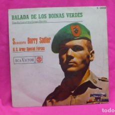 Discos de vinilo: SARGENTO BARRY SADLER -- BALADA DE LOS BOINAS VERDES / SAIGON, RCA VICTOR, 1966.. Lote 156574142