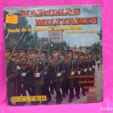 Discos de vinilo: MARCHAS MILITARES-BANDA DE LA ACADEMIA GENERAL MILITAR, CON CORNETAS Y TAMBORES, BELTER, 1961.. Lote 156574546