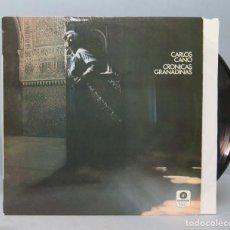 Discos de vinilo: LP. CARLOS CANO. CRONICAS GRANADINAS. Lote 156578206