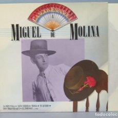 Discos de vinilo: LP. MIGUEL DE MOLINA. ANTOLOGIA DE LA CANCION ESPAÑOLA. Lote 156578290