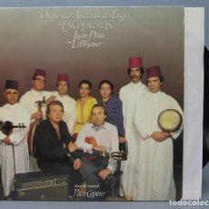 Discos de vinilo: LP. ORQUESTA ANDALUSI DE TANGER. JUAN PEÑA EL LEBRIJANO. ENCUENTROS. Lote 156581370