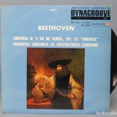 Discos de vinilo: LP. BEETHOVEN. SINFONIA Nº3 EN MI BEMOL, OP. 55. HEROICA. Lote 156582334